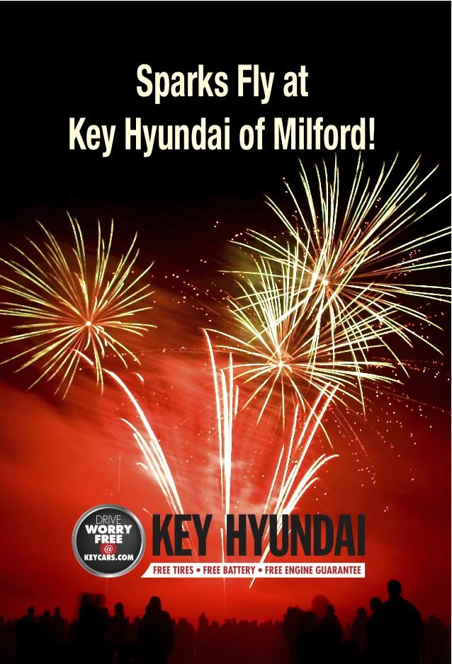 Key Hyundai Milford Mall Fireworks