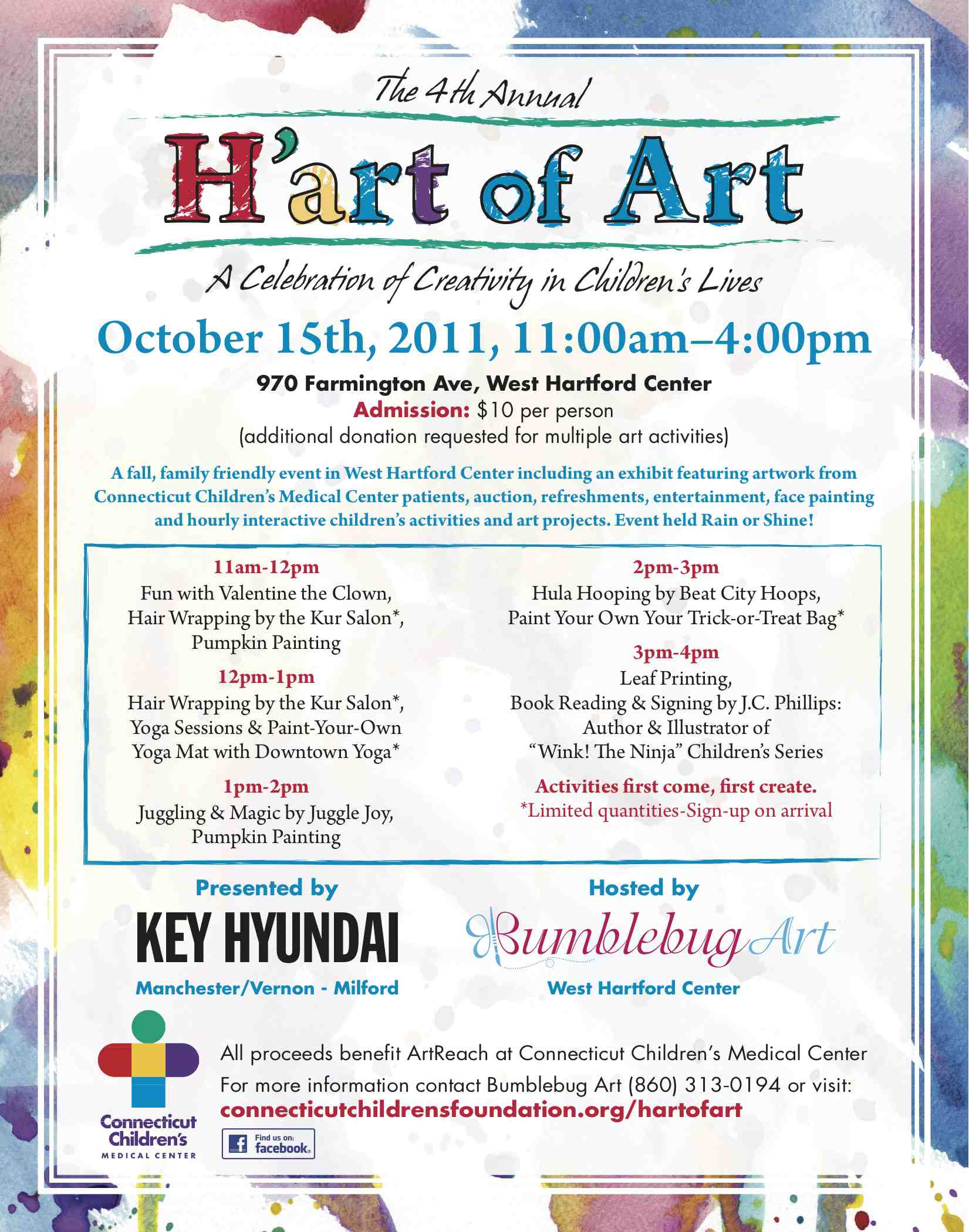 H'Art of Art & Connecticut Children's Medical Center & Key Hyundai
